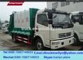 Utiliza 6-7tons camión de la basura compactador, cbm 7 compactadores de basura compactador de basura, camión de la basura dongfeng