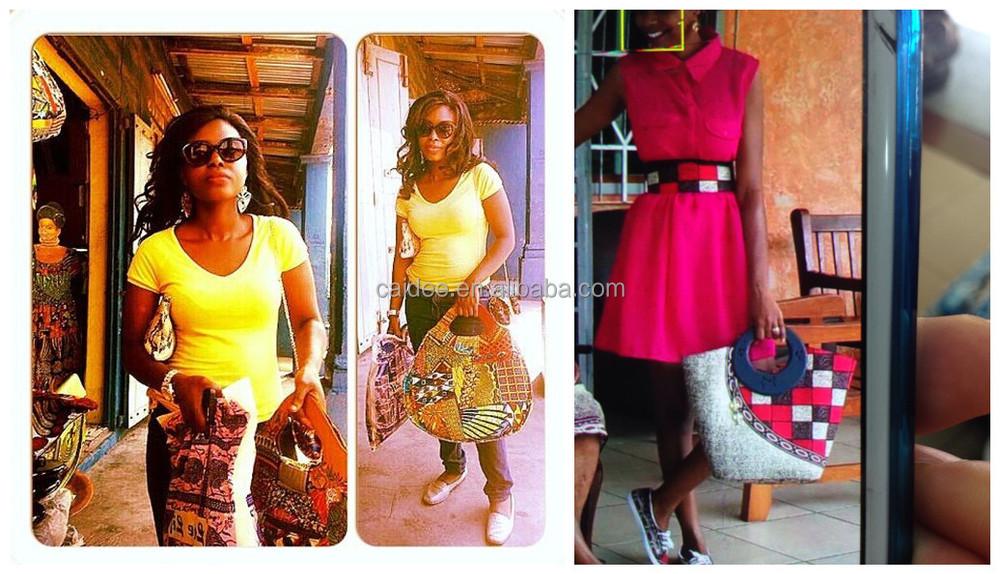 2015 design de mode dame africaine sacs à main de cire de haute qualité