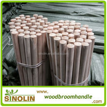 SINOLIN Hot sale natural broom handles wholesale/natural wooden broom handle/natural mop stick