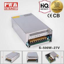high quality 27v 500w CCTV strip led switch output transformer power mental case cover adaptor