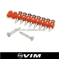 0 Degree Straight Heated Plastic Collated Concrete Nails