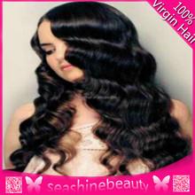 18inch Brazilian Virgin Hair Natural Color Deep Curl Full Lace Wig Virgin Brazilian Hair Lace Wig