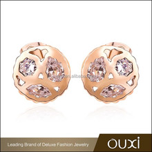 2015 OUXI wholesale fashion earring zinc alloy made with AAA zircon