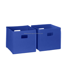 Factory supply beautiful collapsible make toy storage box without lid