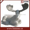 blanco mármol de la escultura de los animales de cabra estatua
