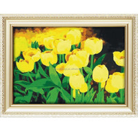 2015 New design modern flower oil painting for wall art