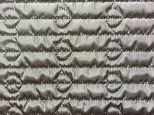polyester stripe with fashion embroidered padded quilting fabric
