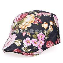 lady fashion floral newsboy beret caps hats FH-003