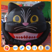 Advertising high quality inflatable black cat