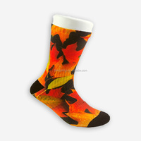 adult sublimation socks with rubber soles in cheap price