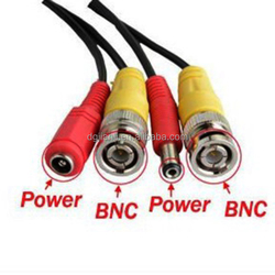 BNC VIDEO and DC POWER EXTENSION CABLE FOR CCTV CAMERA DVR SYSTEM