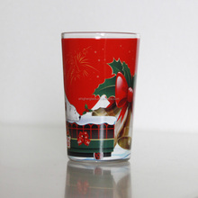8ounce Christmas Drinking Clear Glass With Printing
