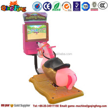 Qingfeng amusement park electric animal ride 3D horse coin operated kiddie rides