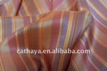 yarn dyed stripe silk habotai for garments and home textile