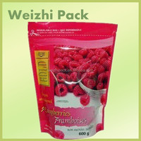 2016 Eco-friendly Plastic packaging bag for nuts dried fruit food stand up bags with zipper