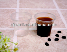 hot selling clear 3oz 5oz plastic pudding cup