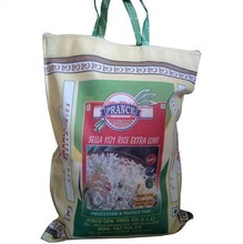 High quality pp woven cambodia rice bags with handle