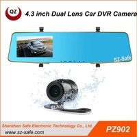 Chinese factory HD 1080P 720P dual lens car dvr recorder camera