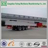 FUWA axle tri-axle cargo semi trailer/ side wall cargo semi trailer/drop side insulated cargo trailer