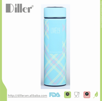 Christmas gift insulated flasks double wall water bottle straw