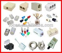Telephone Connector, Telephone Plug, RJ45, Rj11, Rj12 Connectors