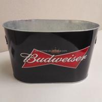 Metal oval ice bucket