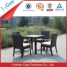 Outdoor furniture 4 seater chair rattan table set garden furniture