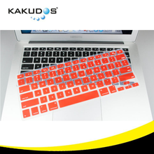 Color custom silicone keyboard cover clear shield skin cover for macbook