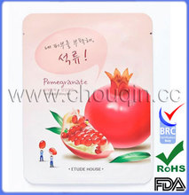 Retail product packaging for pomegranate mask bag