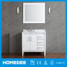 Nuevos productos 2015 de la alta calidad laca blanca moderna pintada gabinetes de baño