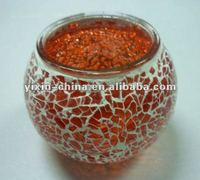 Popular Valentine's Day Gift Ball-shape Glass Mosaic Candle Holder