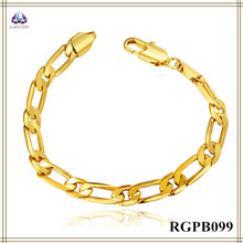 Noble Cheap Price Fashion Gold Chunky Chain Bracelet Hand Chain For Men