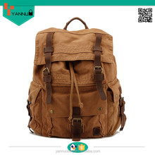 New Fashion unisex 2015 backpack bag with crazy horse leather