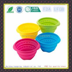 FDA Heat Resistant Fruit,Vegetable Silicone Colander