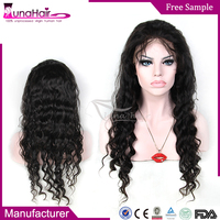 Good looking natural color human Brazilian weave black mens wigs skin