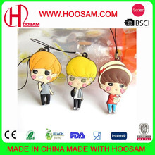 various cute pvc mobile phone cleaner for promotional gift