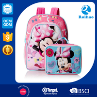 Durable 2015 Super Quality School Backpacks Cartoons for Girls
