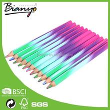 Cheap drawing 11pcs set glitter color pencil, water color pencil, 4 color in 1 lead pencil