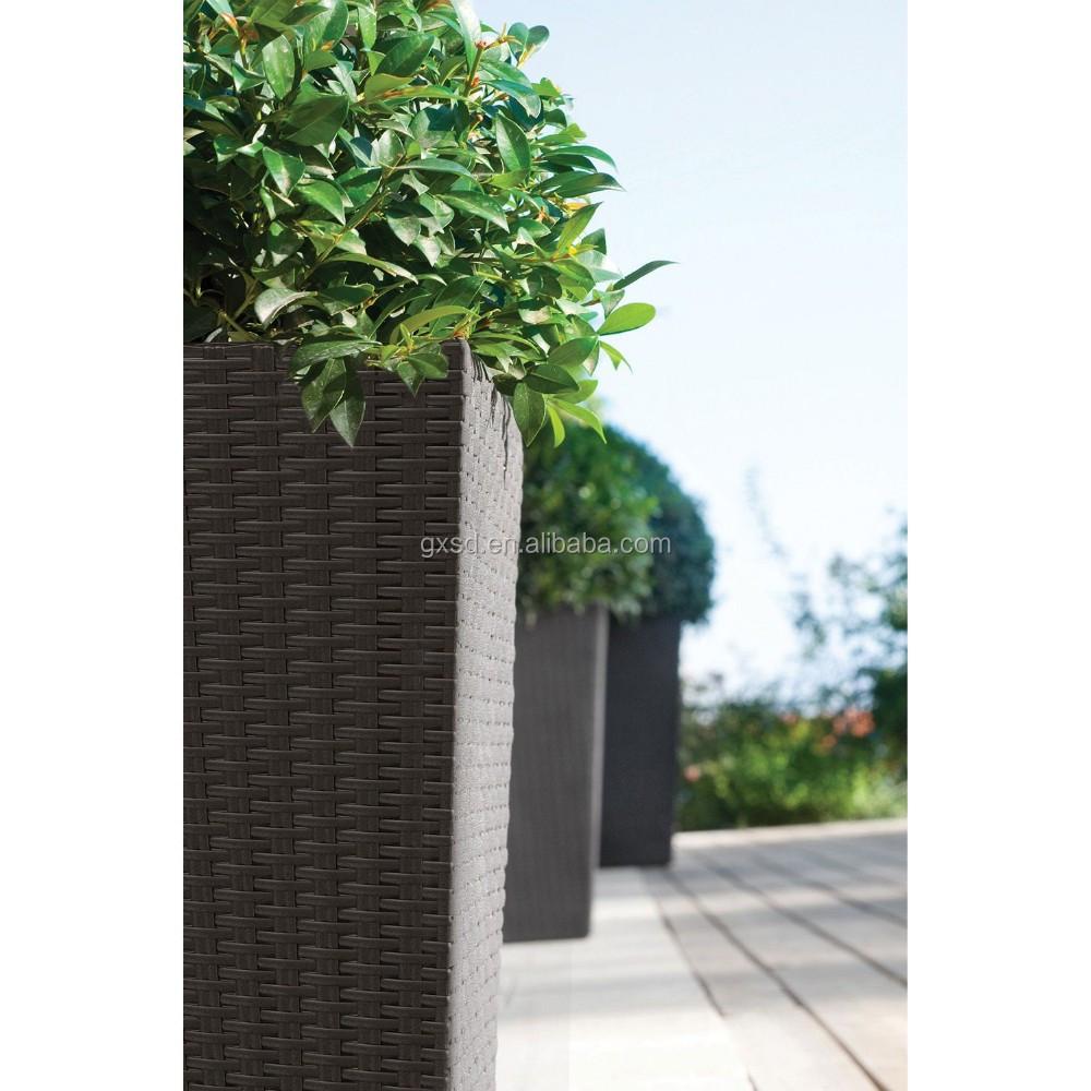 Grandi vasi decorativi per albero resistente AI RAGGI UV rattan ...
