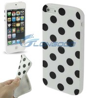 2015 Popular Polka Dot Soft TPU Phone Case For iPhone5(IP5G-011)