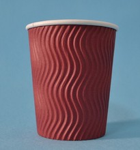 S disposable ripple paper cups/Recyclable ripple Paper Cup /Eco friendly Paper Cup for ripple NO 02