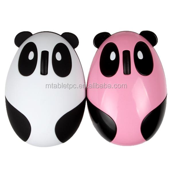 Recargable de dibujos animados Panda ratn inalmbrico y 24g mini