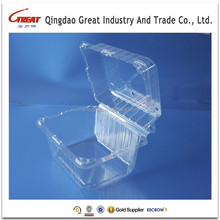Factory Customized Plastic Salad Box Recyclable Vegetable Plastic Box Clear Plastic Fruit Packaging Box