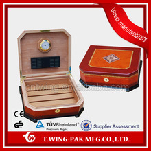 Modern finished wooden cigar humidor box for sale,cigar holder