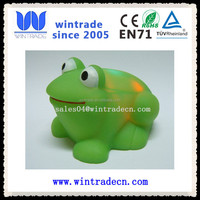 flashing frog light up bath toy animal rubber toy