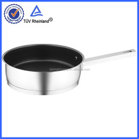 long handle cast iron fry pan with/ without tempered lids cookware