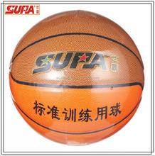 Import hygroscopic PU basketball, promotional high quality China supplier laminated custom logo basketball