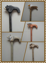 Wooden hand crafted decorative walking/hiking canes/sticks