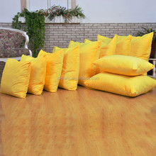 micro fiber polyester with short pile plush yellow rectangular wholesale throw pillows