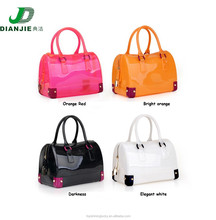 2015 Summer HandBags New Designs Transparent Candy Pillow Handbags,100% Eco-friendly Silicone beach bags for Women